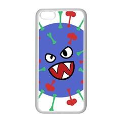 Monster Virus Blue Cart Big Eye Red Green Apple Iphone 5c Seamless Case (white) by AnjaniArt