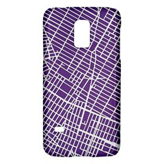 New York Map Art City Street Purple Line Galaxy S5 Mini by AnjaniArt