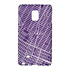 New York Map Art City Street Purple Line Galaxy Note Edge by AnjaniArt