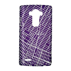 New York Map Art City Street Purple Line Lg G4 Hardshell Case by AnjaniArt