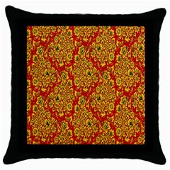 Flower Rose Red Yellow Sexy Throw Pillow Case (black) by AnjaniArt