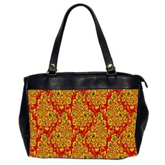 Flower Rose Red Yellow Sexy Office Handbags (2 Sides)  by AnjaniArt