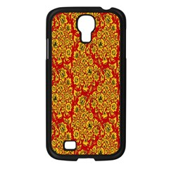 Flower Rose Red Yellow Sexy Samsung Galaxy S4 I9500/ I9505 Case (black) by AnjaniArt
