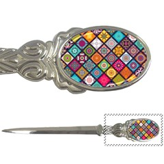 Flower Star Sign Rainbow Sexy Plaid Chevron Wave Letter Openers by AnjaniArt