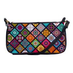 Flower Star Sign Rainbow Sexy Plaid Chevron Wave Shoulder Clutch Bags by AnjaniArt