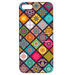 Flower Star Sign Rainbow Sexy Plaid Chevron Wave Apple Iphone 5 Hardshell Case With Stand by AnjaniArt