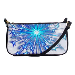 Fireworks Sky Blue Silver Light Star Sexy Shoulder Clutch Bags by AnjaniArt