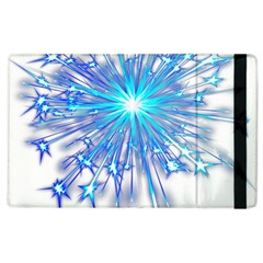 Fireworks Sky Blue Silver Light Star Sexy Apple Ipad 3/4 Flip Case by AnjaniArt