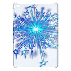 Fireworks Sky Blue Silver Light Star Sexy Apple Ipad Mini Hardshell Case by AnjaniArt