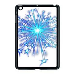 Fireworks Sky Blue Silver Light Star Sexy Apple Ipad Mini Case (black) by AnjaniArt