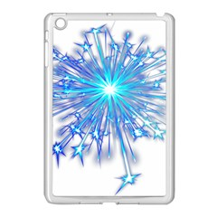 Fireworks Sky Blue Silver Light Star Sexy Apple Ipad Mini Case (white) by AnjaniArt