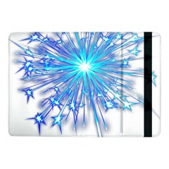Fireworks Sky Blue Silver Light Star Sexy Samsung Galaxy Tab Pro 10 1  Flip Case by AnjaniArt