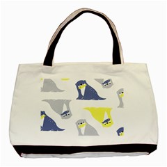 Seals Sea Lions Animals Fish Basic Tote Bag by AnjaniArt