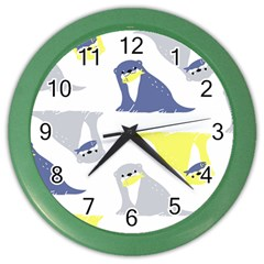 Seals Sea Lions Animals Fish Color Wall Clocks by AnjaniArt
