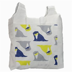 Seals Sea Lions Animals Fish Recycle Bag (one Side) by AnjaniArt