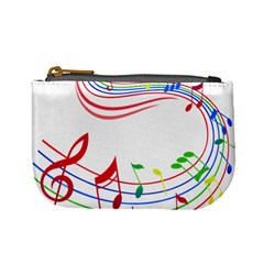 Rainbow Red Green Yellow Music Tones Notes Rhythms Mini Coin Purses by AnjaniArt