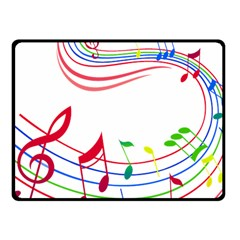 Rainbow Red Green Yellow Music Tones Notes Rhythms Fleece Blanket (small) by AnjaniArt