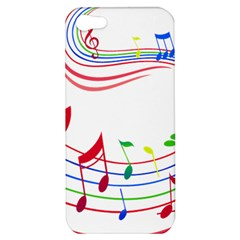 Rainbow Red Green Yellow Music Tones Notes Rhythms Apple Iphone 5 Hardshell Case by AnjaniArt