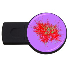Spot Paint Red Green Purple Sexy Usb Flash Drive Round (2 Gb) by AnjaniArt