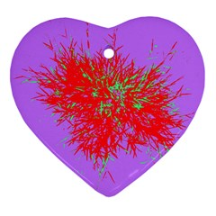 Spot Paint Red Green Purple Sexy Heart Ornament (two Sides) by AnjaniArt