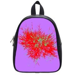 Spot Paint Red Green Purple Sexy School Bag (small) by AnjaniArt