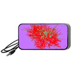 Spot Paint Red Green Purple Sexy Portable Speaker by AnjaniArt