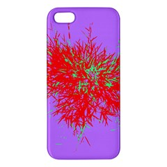 Spot Paint Red Green Purple Sexy Apple Iphone 5 Premium Hardshell Case by AnjaniArt