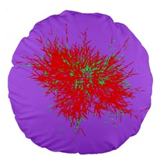 Spot Paint Red Green Purple Sexy Large 18  Premium Flano Round Cushions by AnjaniArt