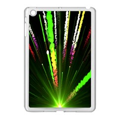 Seamless Colorful Green Light Fireworks Sky Black Ultra Apple Ipad Mini Case (white) by AnjaniArt