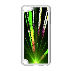 Seamless Colorful Green Light Fireworks Sky Black Ultra Apple Ipod Touch 5 Case (white) by AnjaniArt