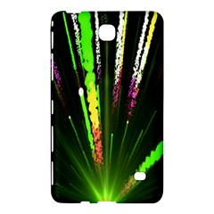 Seamless Colorful Green Light Fireworks Sky Black Ultra Samsung Galaxy Tab 4 (8 ) Hardshell Case  by AnjaniArt