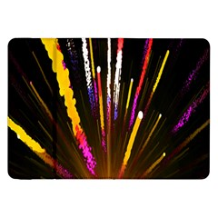 Seamless Colorful Light Fireworks Sky Black Ultra Samsung Galaxy Tab 8 9  P7300 Flip Case by AnjaniArt
