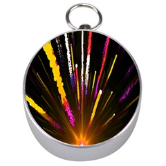 Seamless Colorful Light Fireworks Sky Black Ultra Silver Compasses by AnjaniArt