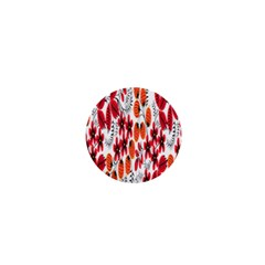 Rose Flower Red Orange 1  Mini Buttons by AnjaniArt