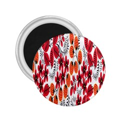 Rose Flower Red Orange 2 25  Magnets by AnjaniArt