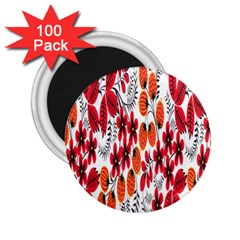 Rose Flower Red Orange 2 25  Magnets (100 Pack)  by AnjaniArt