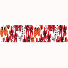 Rose Flower Red Orange Large Bar Mats by AnjaniArt