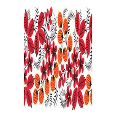 Rose Flower Red Orange Shower Curtain 48  X 72  (small)  by AnjaniArt