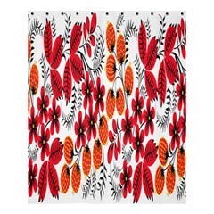 Rose Flower Red Orange Shower Curtain 60  X 72  (medium)  by AnjaniArt