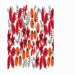 Rose Flower Red Orange Large Garden Flag (two Sides) by AnjaniArt
