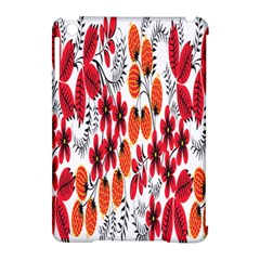 Rose Flower Red Orange Apple Ipad Mini Hardshell Case (compatible With Smart Cover) by AnjaniArt