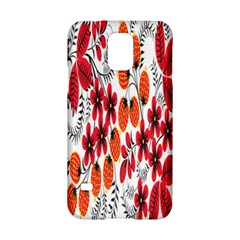 Rose Flower Red Orange Samsung Galaxy S5 Hardshell Case  by AnjaniArt
