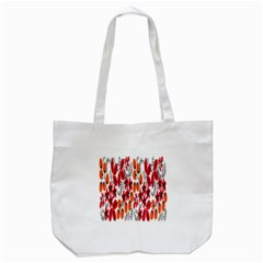 Rose Flower Red Orange Tote Bag (white) by AnjaniArt