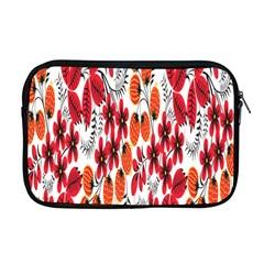 Rose Flower Red Orange Apple Macbook Pro 17  Zipper Case by AnjaniArt