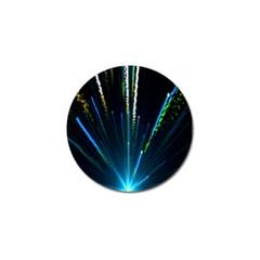 Seamless Colorful Blue Light Fireworks Sky Black Ultra Golf Ball Marker (4 Pack) by AnjaniArt