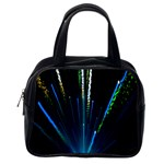 Seamless Colorful Blue Light Fireworks Sky Black Ultra Classic Handbags (2 Sides) Back