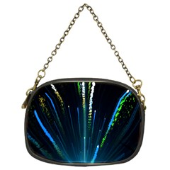 Seamless Colorful Blue Light Fireworks Sky Black Ultra Chain Purses (two Sides)  by AnjaniArt