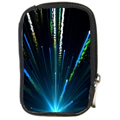 Seamless Colorful Blue Light Fireworks Sky Black Ultra Compact Camera Cases by AnjaniArt