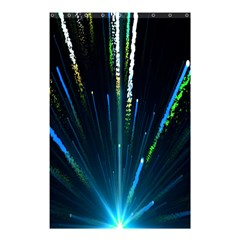 Seamless Colorful Blue Light Fireworks Sky Black Ultra Shower Curtain 48  X 72  (small)  by AnjaniArt
