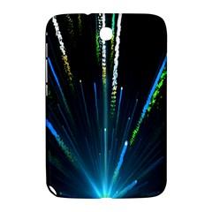 Seamless Colorful Blue Light Fireworks Sky Black Ultra Samsung Galaxy Note 8 0 N5100 Hardshell Case  by AnjaniArt